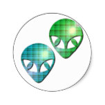 Alien Pair Sticker